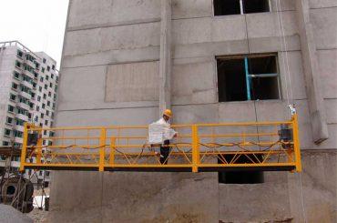 7.5m plataformes suspensives personalitzades de 800 quilograms per a la neteja de la construcció, tipus pin