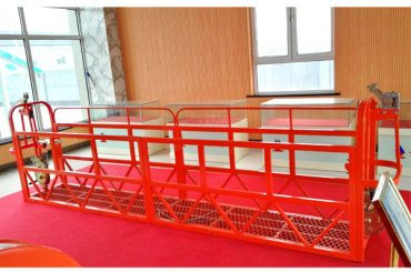 Plataformes d'accés suspès en acer 7.5m 1.8kw 800kg Manteniment d'edificis
