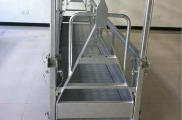 Plataforma de treball d'acer suspesa i plataforma d'acer suspès