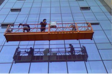 plataforma de suspensió de corda de construcció forta amb panell de seguretat 30kn zlp1000 2.2kw 2.5m * 3