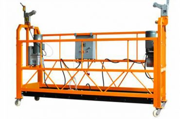 ce certificada plataforma de treball suspesa d'alumini zlp1000 motor de potència 2.2kw