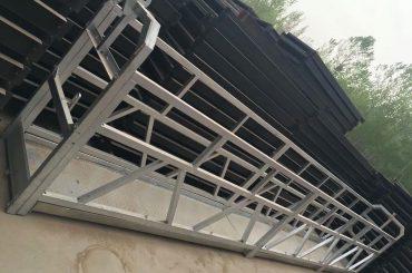 aliatge d'alumini de forma zlp630 / 800 ll, plataforma elevadora de plataforma de treball en construcció d'acer sobre finestres de construcció