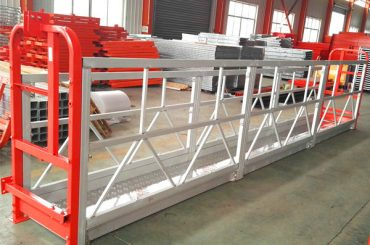 Sistemes de bastides de suspensió d'aliatge d'alumini 1000 kg 2.2 kw per a la neteja de finestres