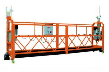 2.5M x 3 seccions 1000kg Plataforma d'accés suspès Velocitat d'elevació 8-10 m / min